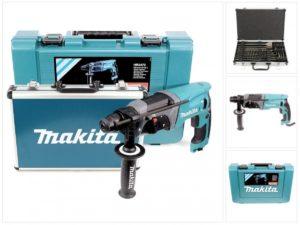 4. Bohrmaschine kaufen - Makita HR 2470 Bohrmaschine + Bohrer & Meißelset